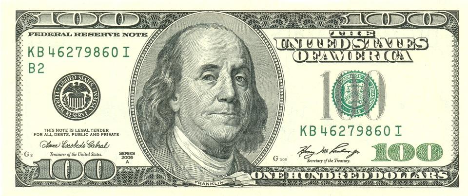 stovka dolarů